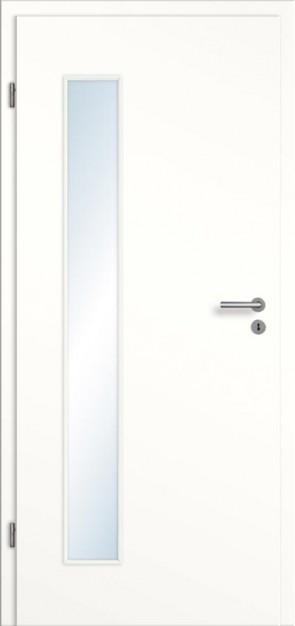 Türelement Weißlack mit Lichtausschnitt 008B glatt Bianco