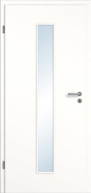 Tür Weißlack glatt Lichtausschnitt 008M