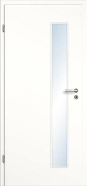 Türelement Weißlack mit Lichtausschnitt 008S glatt Bianco