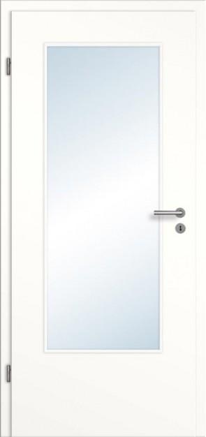 Tür Weißlack glatt mit Lichtausschnitt DIN Sparfuxx