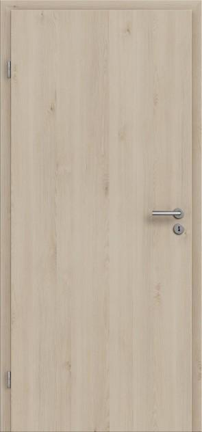CPL Tür mit Zarge Natura Pinie Cream / Längsoptik