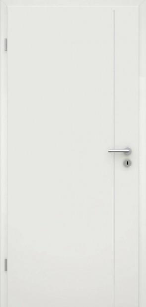 Tür Weißlack RAL 9010 Lisene L5