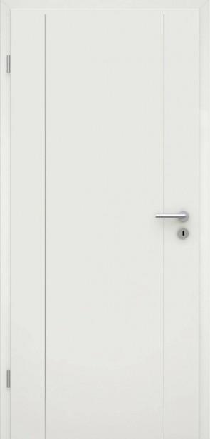 Tür Weißlack RAL 9010 Lisene L6
