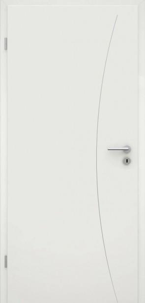 Tür Weißlack RAL 9010 Lisene L9