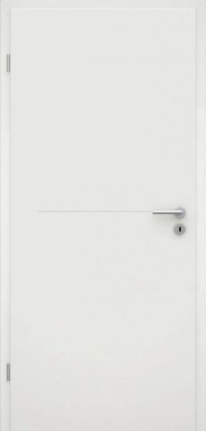 Tür Weißlack RAL 9010 Lisene L7