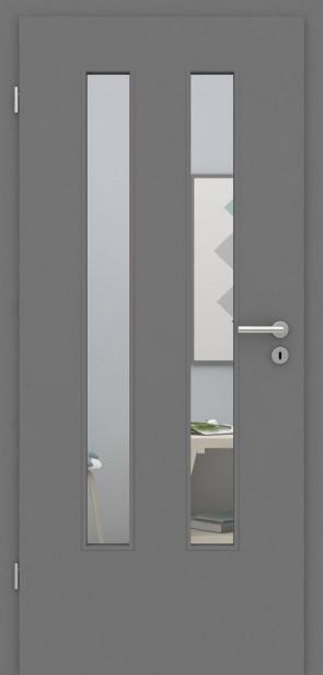 Tür mit Zarge Metallgrau LA 006 | 198,5 & 211cm | Türblatt MDF, Zarge CPL