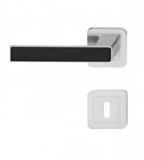 Türklinken Griffe Schwarz glänzend Nickel matt (BB)