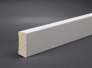 Wagner Sockelleiste Weiß 40 x 16 mm, Oberkante gerade (MDF)