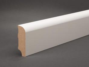 MDF Sockelleiste Weiß 60 mm x 19 mm Oberkante abgerundet