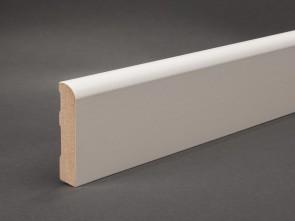 Wagner Sockelleiste Weiß 60 x 13 mm mit abgerundeter Oberkante (MDF)