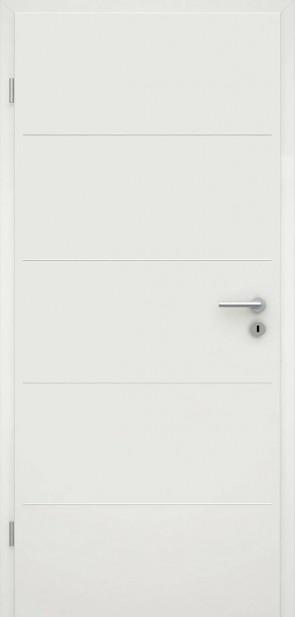 Tür Weißlack RAL 9010 Lisene L1