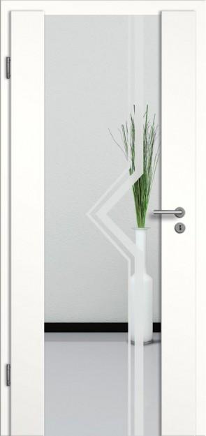 Holzglastür CPL Weißlack Motiv 10