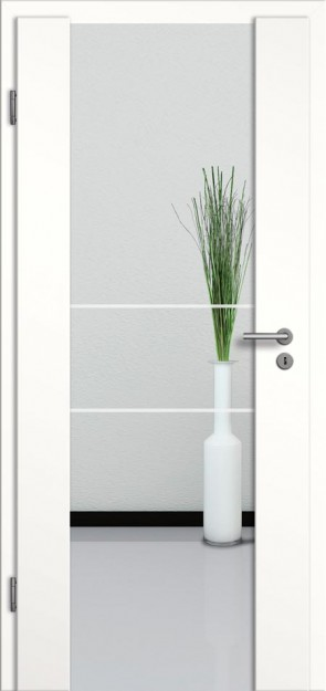Holzglastür CPL Weißlack Motiv 21
