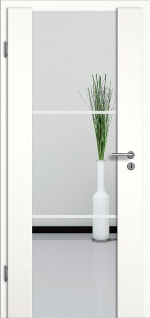 Holzglastür CPL Weißlack Motiv 27