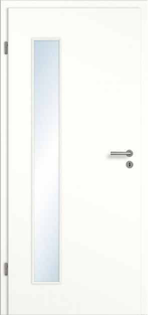 CPL Zimmertür Lichtausschnitt mit Zarge / Weiß