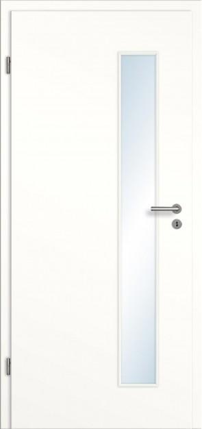 CPL Tür Lichtausschnitt und Zarge / Weiß
