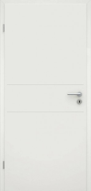Tür Weißlack RAL 9010 Lisene L2