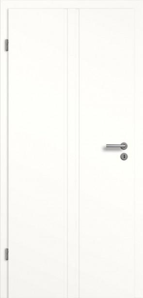 Weißlack Tür mit Längsrille SF2