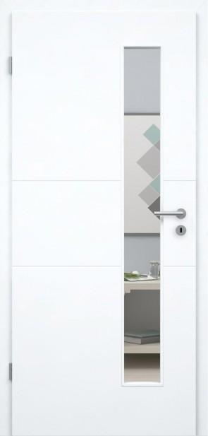 Superweiße Designtür / Roma GA3 008S