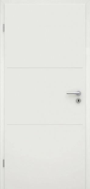 Tür Weißlack RAL 9010 Lisene L3