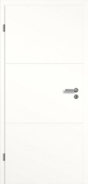 Weißlack Tür mit Querrille SF3