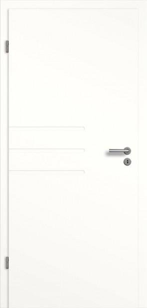 Weißlack Tür mit Querrillen SF4