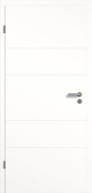 Weißlack Tür mit Querrillen SF5