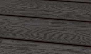 Terrassendiele WPC 22 x 143 mm massiv dunkelgrau sägerau fein