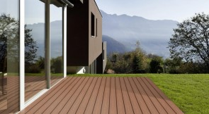 WPC Terrassen Komplett-Set (3m x 4m = 12m²) Dielen massiv
