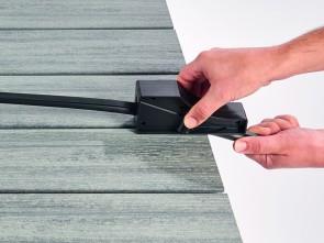Einfügehilfe Fugenschlauchdichtung WPC / Holz Terrassendielen
