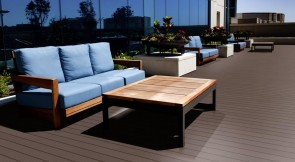 WPC Terrassen Komplett-Set (3m x 3m = 9m²) Dielen massiv