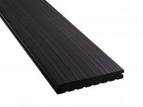 WPC Dielen extra lang | 20 mm x 140 mm, Massiv, Anthrazit (Oberfläche strukturiert)