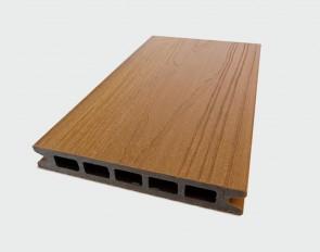 Muster Terrassendiele WPC Hohlkammer (Farbe Garapa, ummantelt, Struktur)
