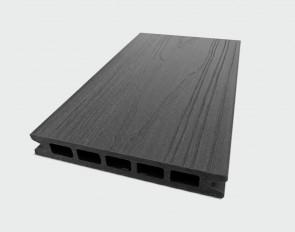 Muster Terrassendiele WPC Hohlkammer (Granit Grau, ummantelt, Struktur)