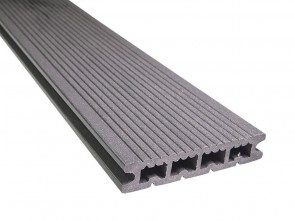 Hohlkammer WPC Terrassendielen 21 mm x 139 mm | Granitgrau / fein