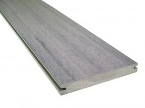 WPC Diele Grau Dolomit Steinoptik 21 mm x 162 mm (einseitig geprägt, matt)