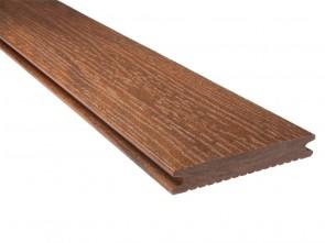 WPC Diele massiv | Bernsteinbraun 21 mm x 139 mm (Holzmaserung)