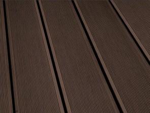 WPC Terrassendielen Hohlkammerprofil 28x145 mm | Dunkelbraun - Palisander