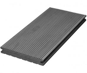 WPC Terrassendielen Dunkelgrau gerillt 22mm x 143mm
