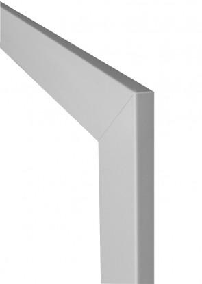 Durchgangszarge CPL Weiß, Designkante 70 mm