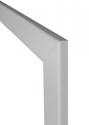 Weiße Durchgangszarge mit Rundkante 80mm
