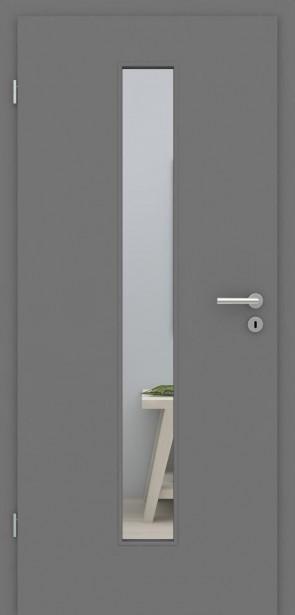 Tür mit Zarge Metallgrau LA008M | 198,5 & 211cm | Türblatt MDF, Zarge CPL