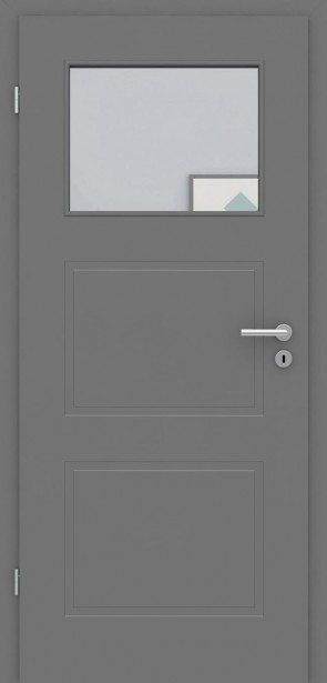 Designtür mit Oberlicht | Metallgrau Rimini 3G 1LA