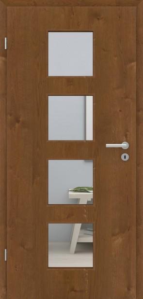 Tür Echtholzfurnier Eiche Bronze | LA004