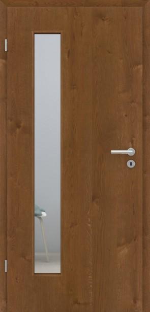 Echtholztür Asteiche matt Bronze furniert | LA008B