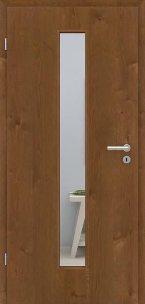 Echtholztür Asteiche Natur Bronze furniert | LA008M