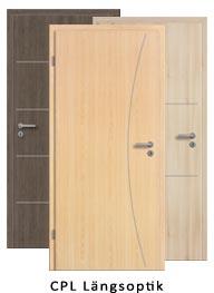 Lisenen Türen CPL Längsoptik (Tür + Zarge)