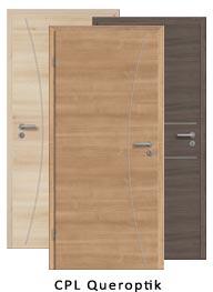 Lisenen Türen CPL Queroptik (Tür + Zarge)