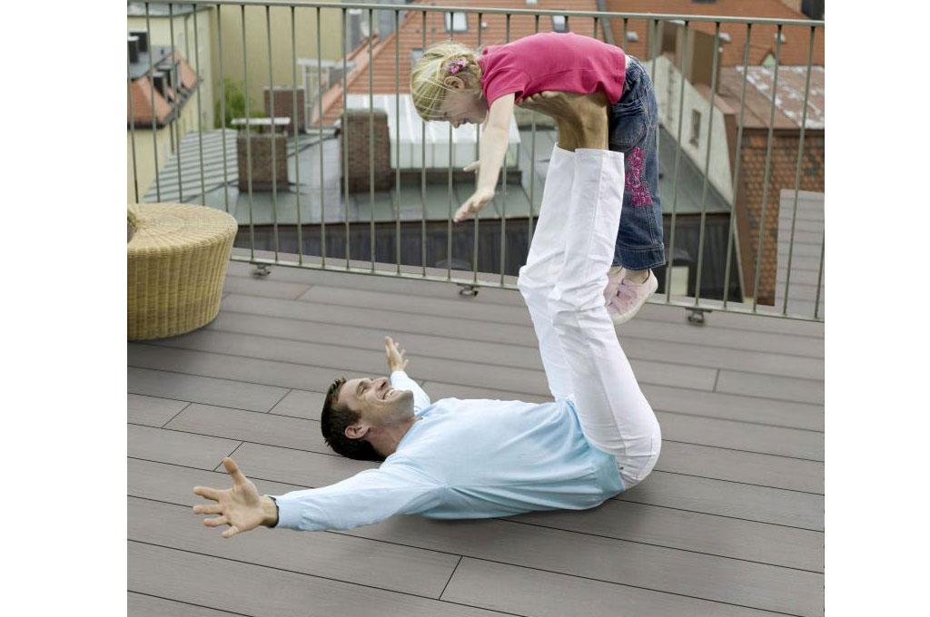 WPC Dielen Komplettset Terrasse Balkon Freifläche günstig kaufen