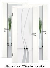 Holzglas Türelemente (Tür + Zarge)